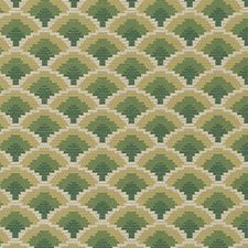 Green Flame Stitch Decorator Fabric by Duralee