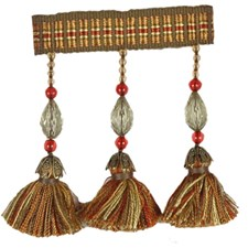 Ming Forest Bead Frin Trim by RM Coco