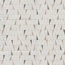 Brown Geometric Decorator Fabric by JF