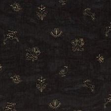 Black Silk Decorator Fabric by G P & J Baker