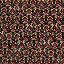 Blue/Burgundy/Red Small Scales Decorator Fabric by Kravet