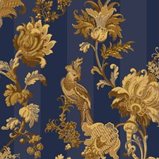 Royal Blue/Gold Print Wallcovering by Cole & Son Wallpaper