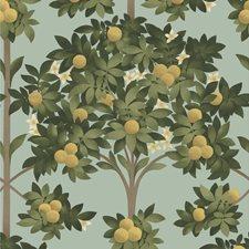 Lemon/Dark Olive Grn/Duck Egg Botanical Wallcovering by Cole & Son Wallpaper