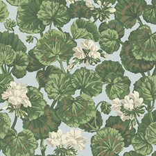 White/Sage On Seafoam Botanical Wallcovering by Cole & Son Wallpaper