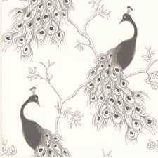 Silver Feature Wall Wallpaper Wallcovering by Brewster