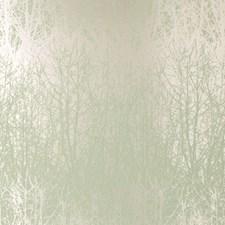 Aqua/Silver Wallcovering by F Schumacher Wallpaper