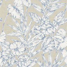 Navy Traditional Wallpaper Wallcovering by Brewster