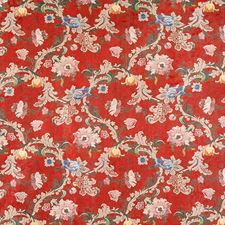 Multi On Chinese Red Wallcovering by Scalamandre Wallpaper