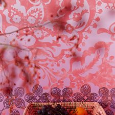 341597 Indiana Coral Floral Paisley Mural by Brewster
