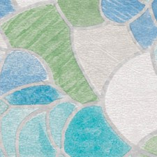 346-0213 Blue and Green Stained Glass Window Film by Brewster