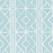 Turquoise Geometric Wallcovering by Stroheim Wallpaper