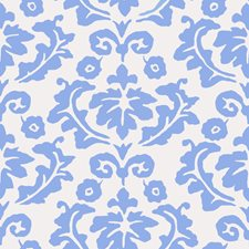 Blue Floral Wallcovering by Stroheim Wallpaper