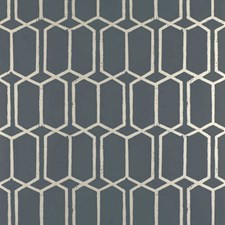 Charcoal Metallic Wallcovering by Schumacher Wallpaper