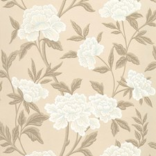 Taupe Wallcovering by Schumacher Wallpaper