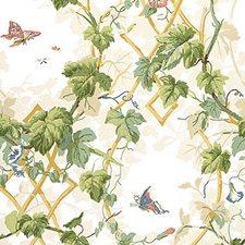Cream Wallcovering by Schumacher Wallpaper