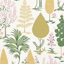 Yellow/amp/Pink Wallcovering by Schumacher