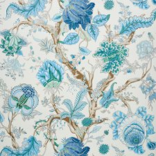 Peacock/amp/Emerald Wallcovering by Schumacher Wallpaper