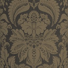 Charcoal Damask Wallcovering by Stroheim Wallpaper