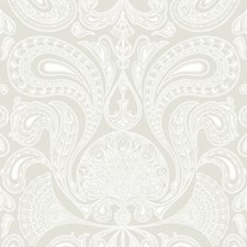 White/Linen Paisley Wallcovering by Cole & Son Wallpaper