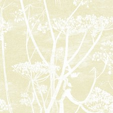Straw/White Botanical Wallcovering by Cole & Son Wallpaper