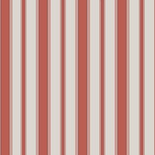 Red and Sand Stripes Wallcovering by Cole & Son Wallpaper