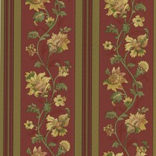 Red Jacobean Wallcovering by Brewster
