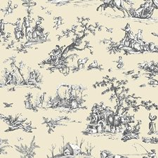 Biscuit Tan/Milk/Licorice Scenic Wallcovering by York