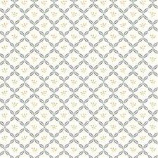 White/Charcoal/Tan Botanical Wallcovering by York