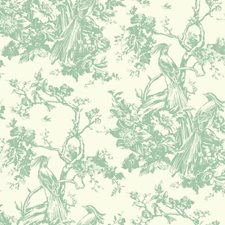 Green/White Animals Wallcovering by York