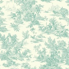 Blue/White Animals Wallcovering by York