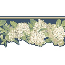 Blues Flowers Wallcovering by York