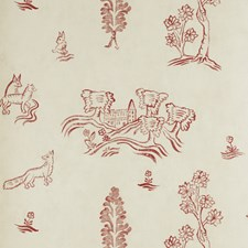 Huntsman Red Novelty Wallcovering by Andrew Martin Wallpaper