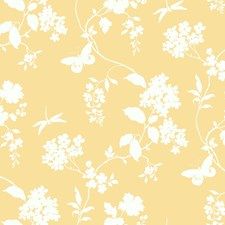 Yellow/White Wall Décor Wallcovering by York