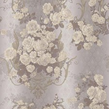 Silver/Grey/Cream Damask Wallcovering by York