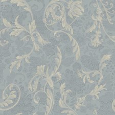 Pale Blue/Medium Blue/Cream Floral Wallcovering by York