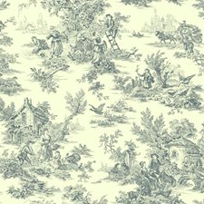 Navy/Cream Trees Wallcovering by York