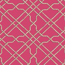Bright Pink/Beige/Brown Traditional Wallcovering by York