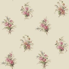 Soft Pearlescent Gold/Pink/Taupe Floral Wallcovering by York