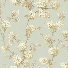 Light Blue/White/Cream Floral Wallcovering by York