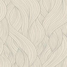 White/Silver Botanical Wallcovering by York