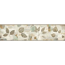 Gray/Blue Botanical Wallcovering by York