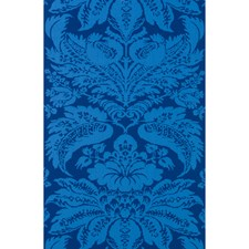 Sapphire Damask Wallcovering by Brunschwig & Fils