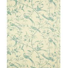 Aqua Botanical Wallcovering by Brunschwig & Fils