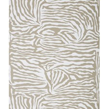 Tan On White Animal Wallcovering by Brunschwig & Fils