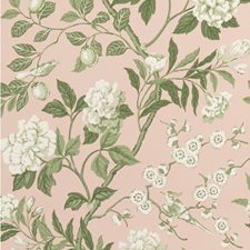 Blush Botanical Wallcovering by G P & J Baker
