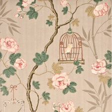 Silver/Rose Wallcovering by G P & J Baker