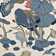 Indigo/Marine/Linen Animal Wallcovering by G P & J Baker