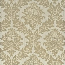 Taupe Damask Wallcovering by G P & J Baker