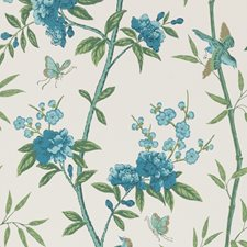 Indigo/Teal Wallcovering by G P & J Baker