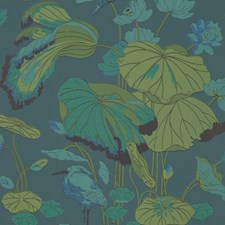 Teal Wallcovering by G P & J Baker